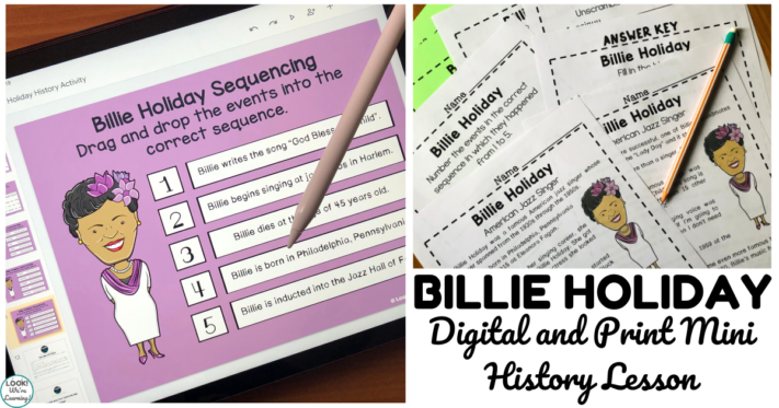 Digital and Print Billie Holiday Mini History Lesson