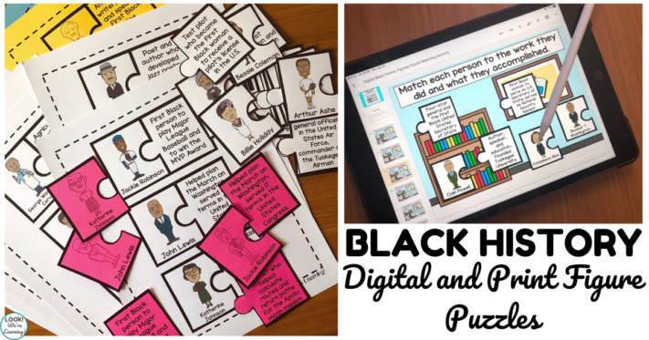 Digital and Print Black History Figure Puzzles for Kids