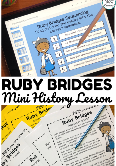 Digital and Print Ruby Bridges History Lesson