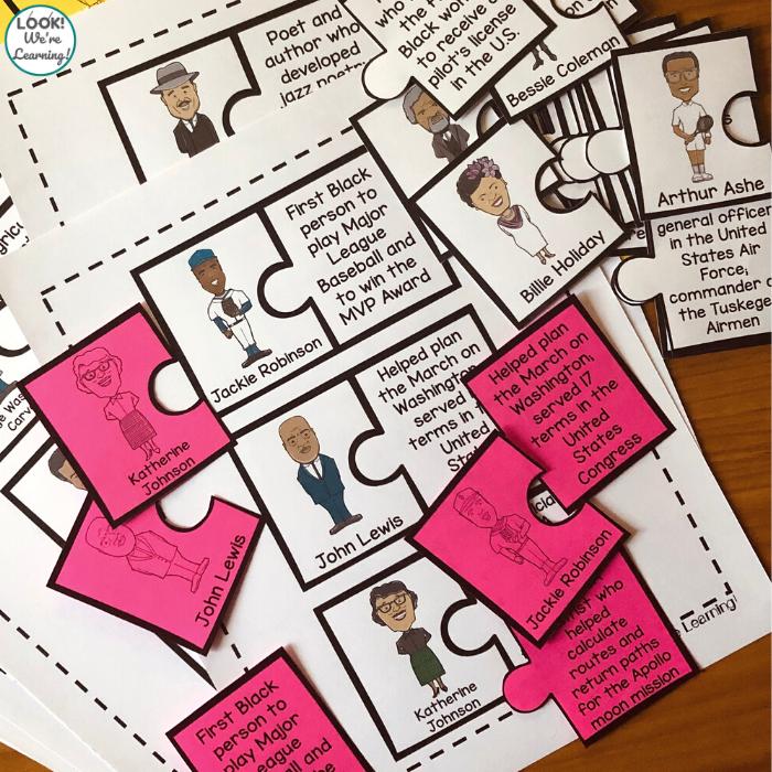 Printable Black History Figure Puzzles