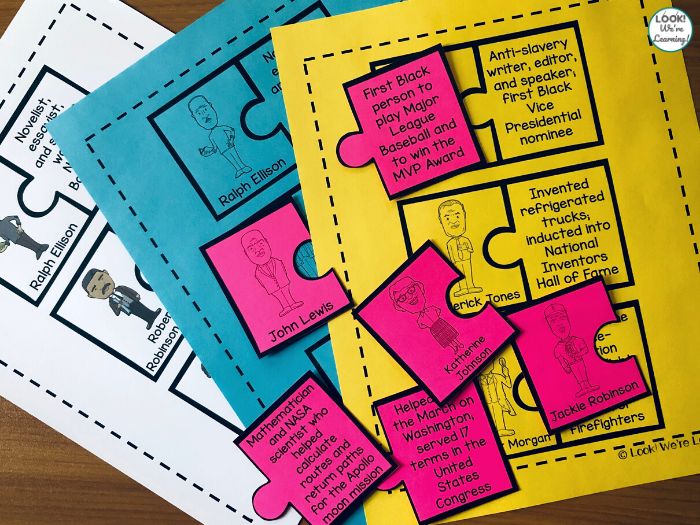 Printable Black History Puzzles for Early Learners