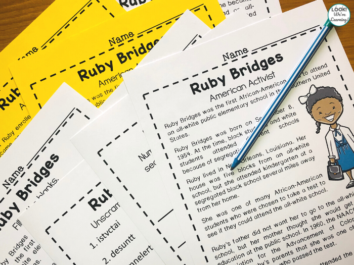 Printable Ruby Bridges History Activity