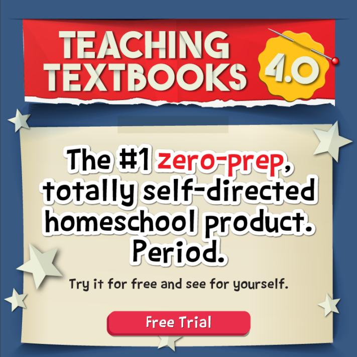 Teaching Textbooks Zero Prep Free Trial Graphic