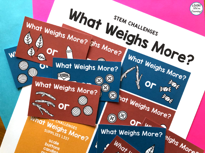 Printable Weight STEM Challenge
