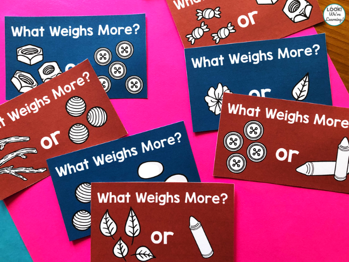 Weight STEM Challenge Cards for Kids