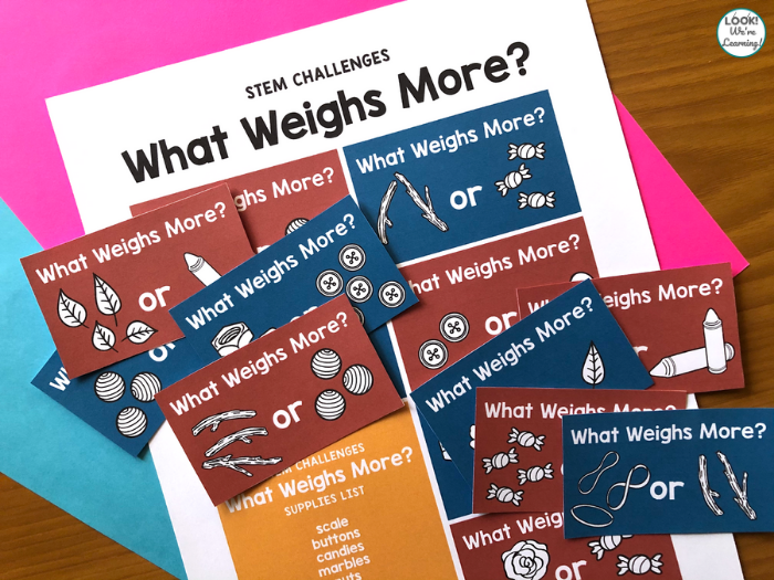 Weight STEM Challenge Cards