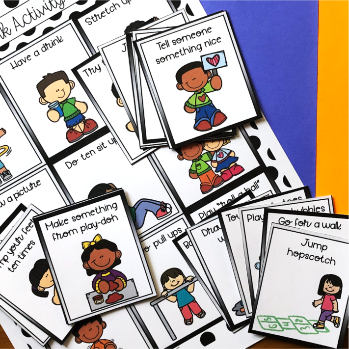 Brain Break Cards for Early Elementary Students