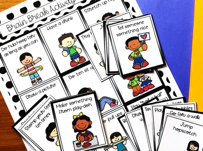 Printable Brain Break Cards for Kids