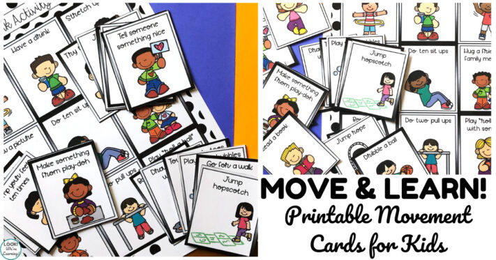Printable Movement Cards for Early Learners