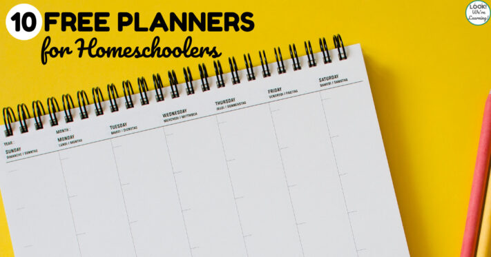 10 Free Homeschool Planners for Parents