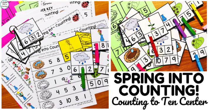 Fun Spring Themed Counting to Ten Math Center