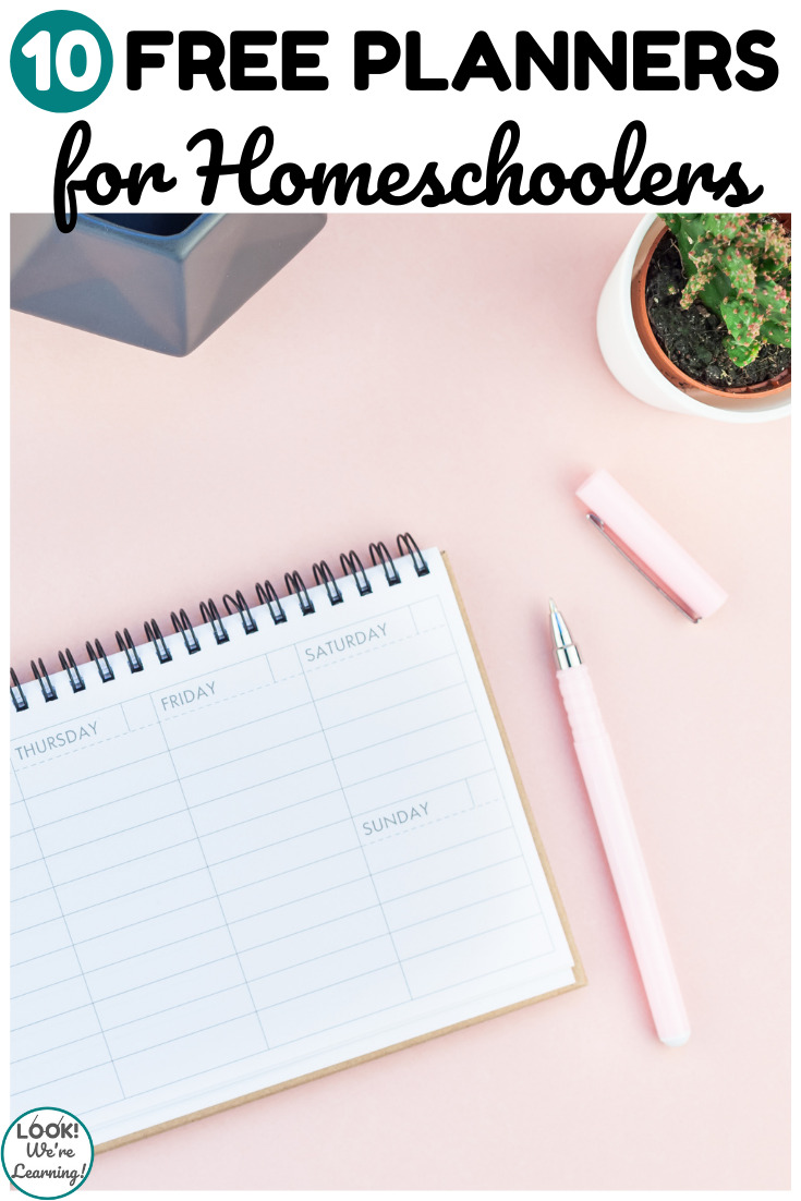10 Free Homeschool Planners For The New Year Look We Re Learning