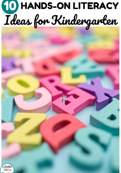 Help early learners love learning to read with this list of 10 hands on literacy ideas for kindergarten!