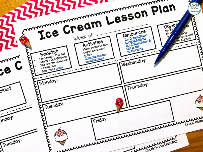 Ice Cream Lesson Plan for Early Learners