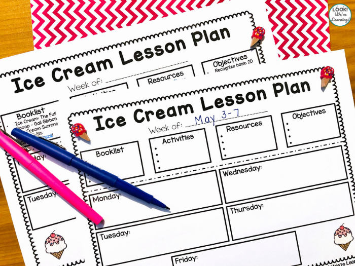Ice Cream Theme Lesson Plan for Preschool