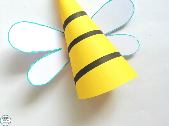Kids Paper Bee Craft Instructions