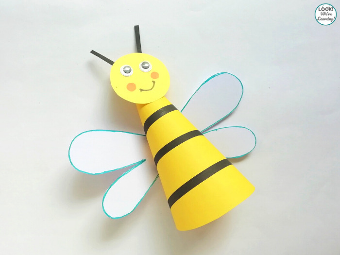 Making a Bee Craft with Paper