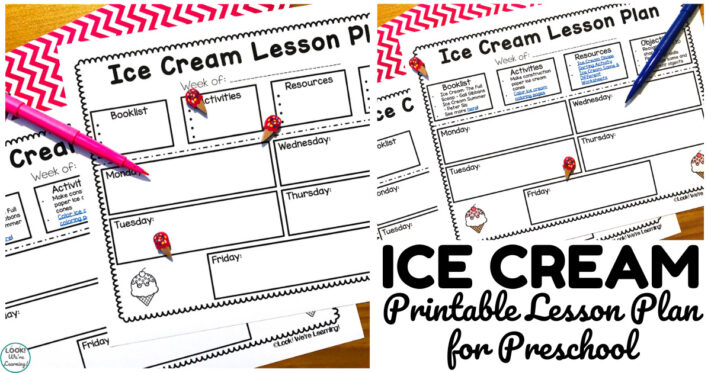 Printable Preschool Ice Cream Theme Lesson Plan