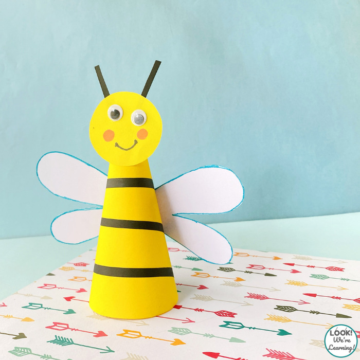 Simple Paper Bee Craft for Kids