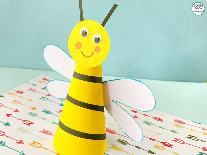 Simple Paper Bee Craft to Make