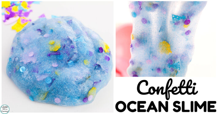 Fun Confetti Ocean Slime Recipe