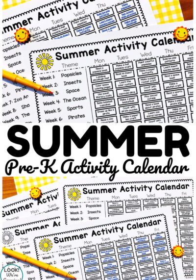 Plan a fun learning summer for little ones with this printable preschool summer activity calendar!