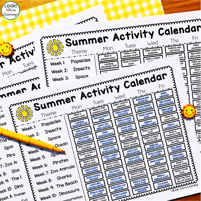Summer Activities for Preschoolers