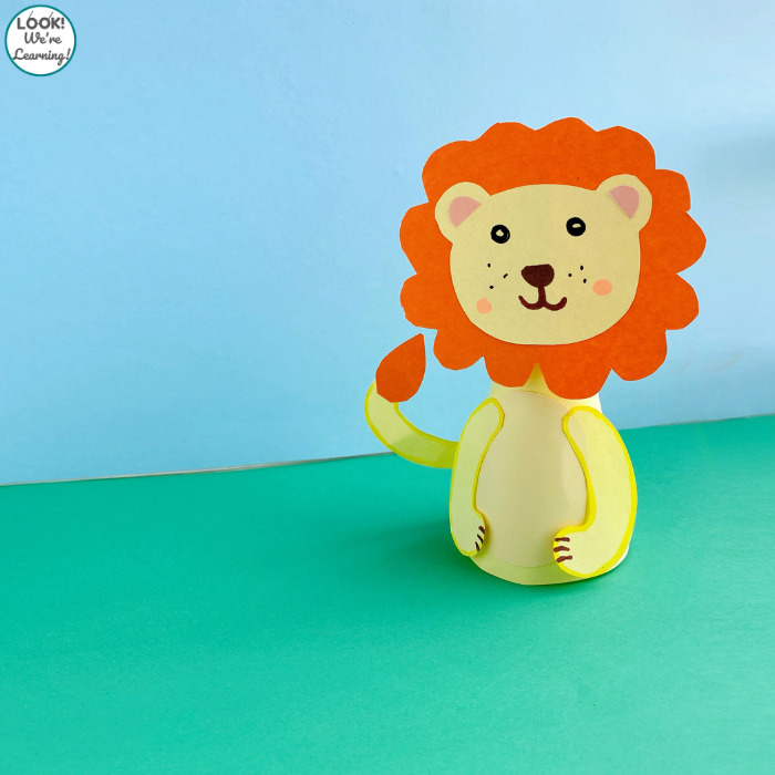 Easy Paper Animal Craft for Kids