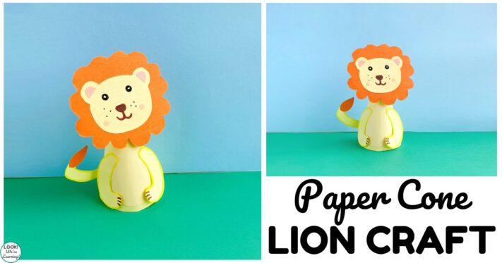 Easy Paper Cone Lion Craft for Kids