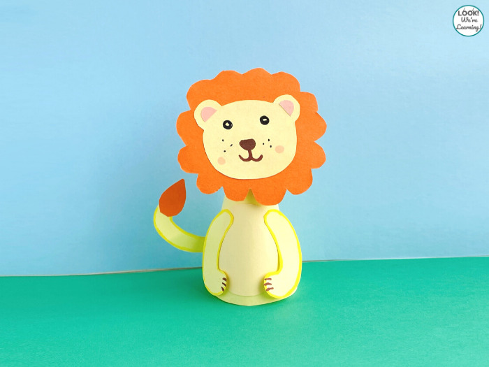 Easy Paper Lion Animal Craft for Kids