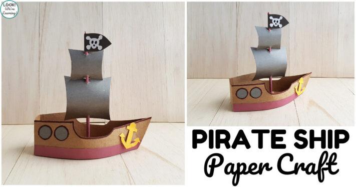 Fun Paper Pirate Ship Craft for Kids