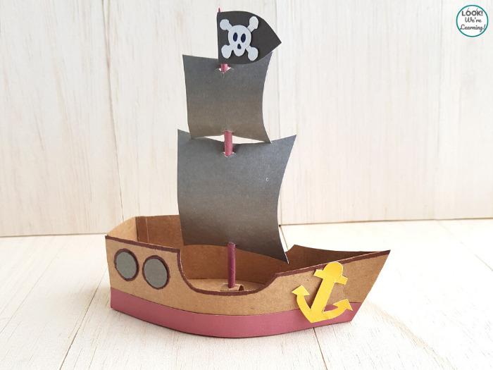Kids Paper Pirate Ship Craft