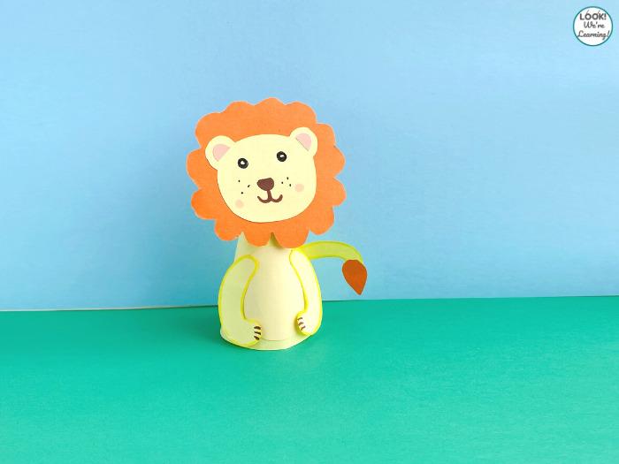 Making a Paper Lion Animal Craft
