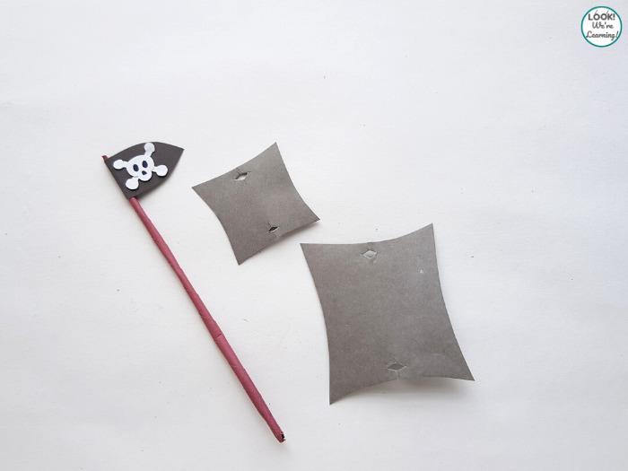 Making a Paper Pirate Ship Flag