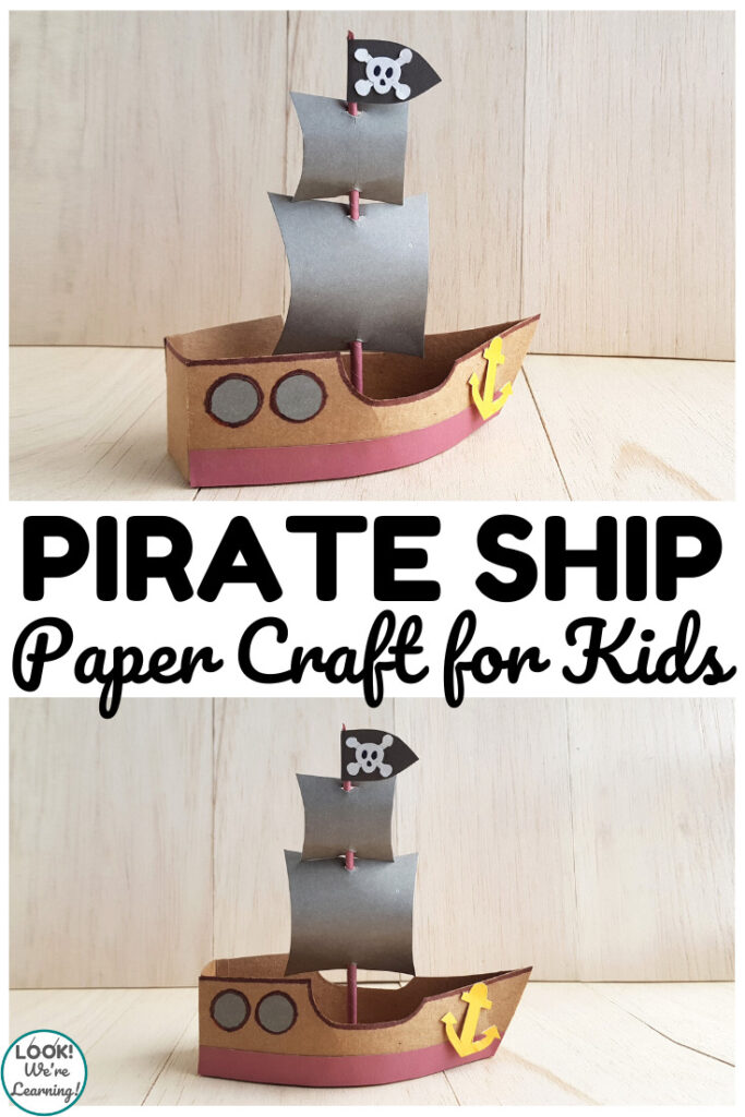 This fun paper pirate ship craft is a perfect activity for a pirate unit!