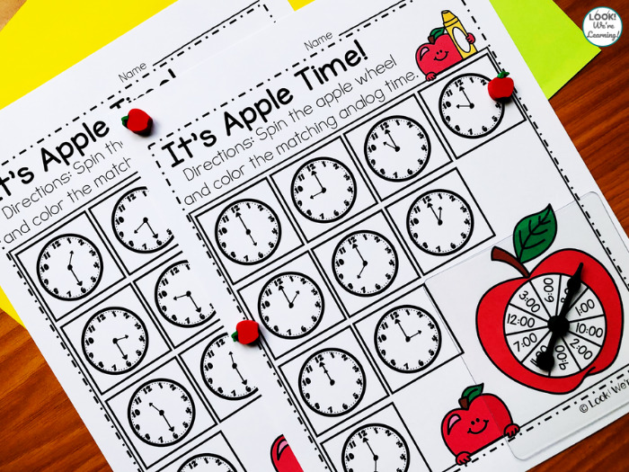 Apple Spin and Color Time Activity