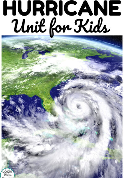 This hurricane unit for kids is a perfect way to talk about extreme weather over summer!
