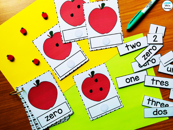 Apple Counting to Ten Learning Cards