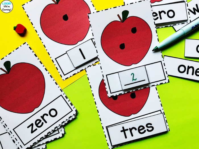 Apple Learning Cards for Numbers