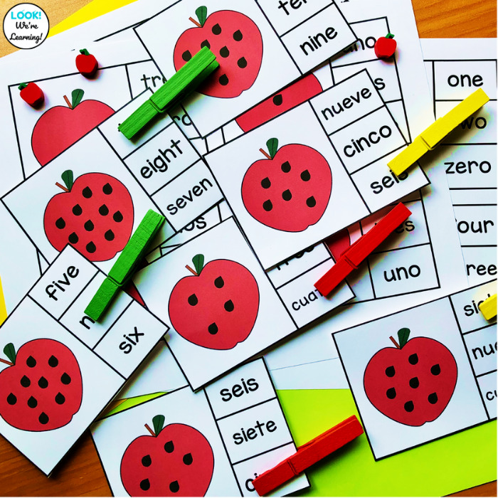 Apple Themed Count and Clip Cards