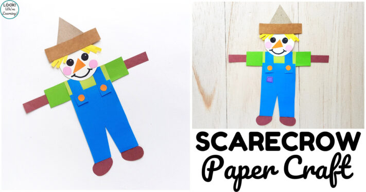 Easy Paper Scarecrow Craft for Kids
