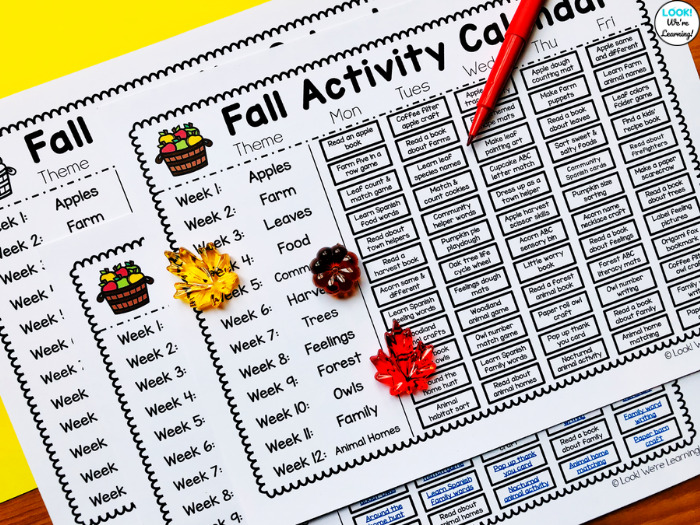 Fall Themed Ideas for Preschool Students