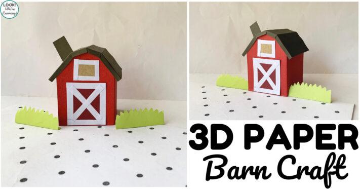 Fun 3D Paper Barn Craft for Kids