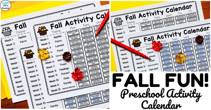Fun Preschool Fall Activity Calendar