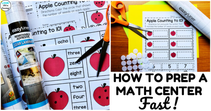 How to Prep a Math Center Faster