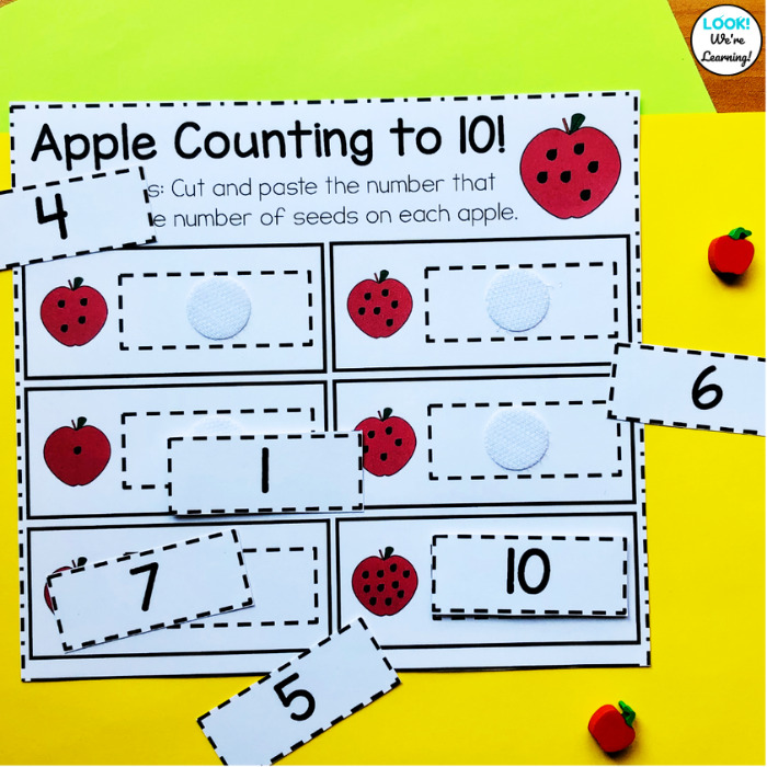 How to Use Hook and Loop Dots to Prep a Math Center