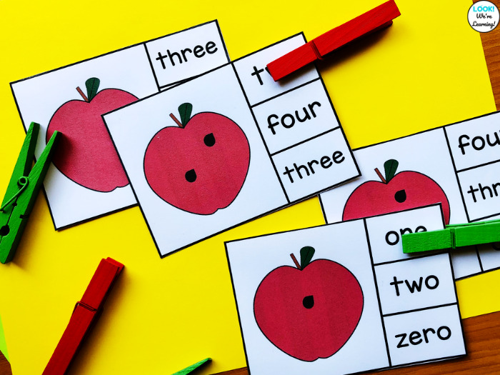 Math Center Count and Clip Cards