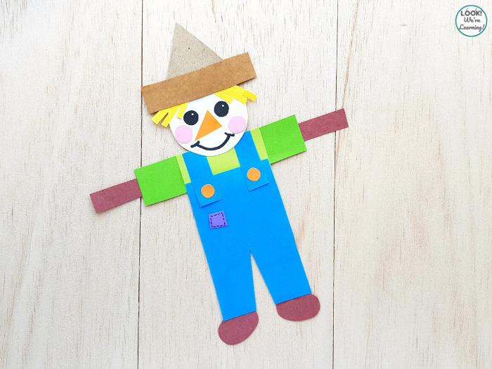 Paper Kids Scarecrow Craft
