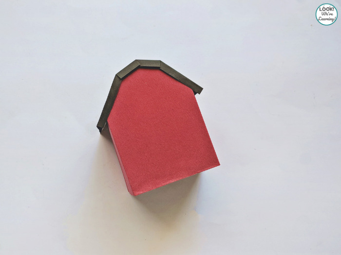 Simple Paper Barn Craft