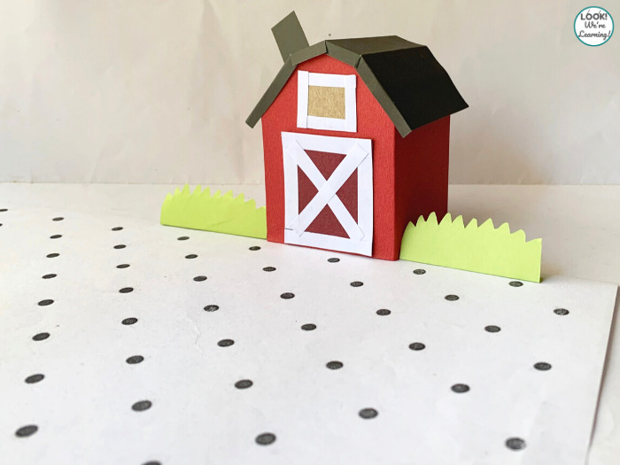 Simple Paper Barn for Kids to Make